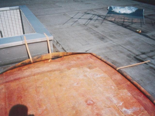 屋上防水補修中5