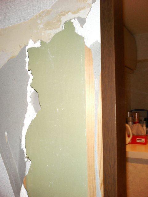 壁穴補修前1