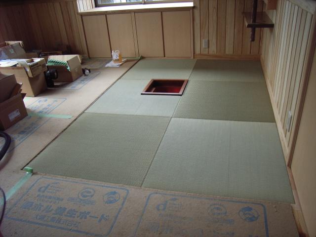 琉球畳施工後1