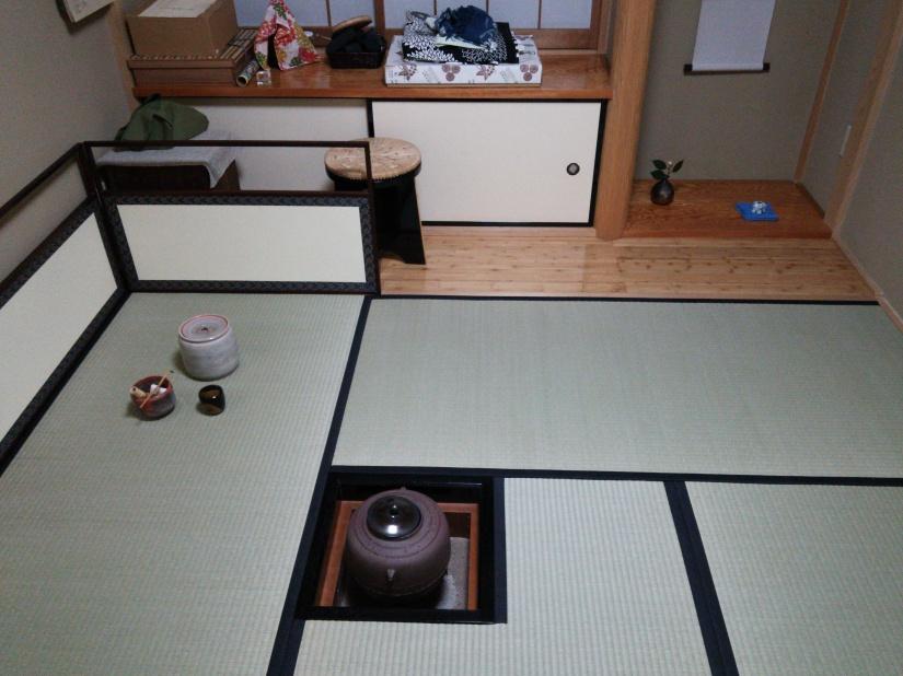 茶室炉畳表替え後2