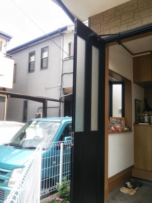 玄関ドア修理前1