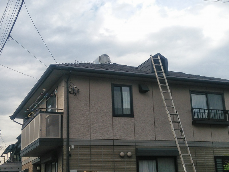 太陽熱温水器撤去中1