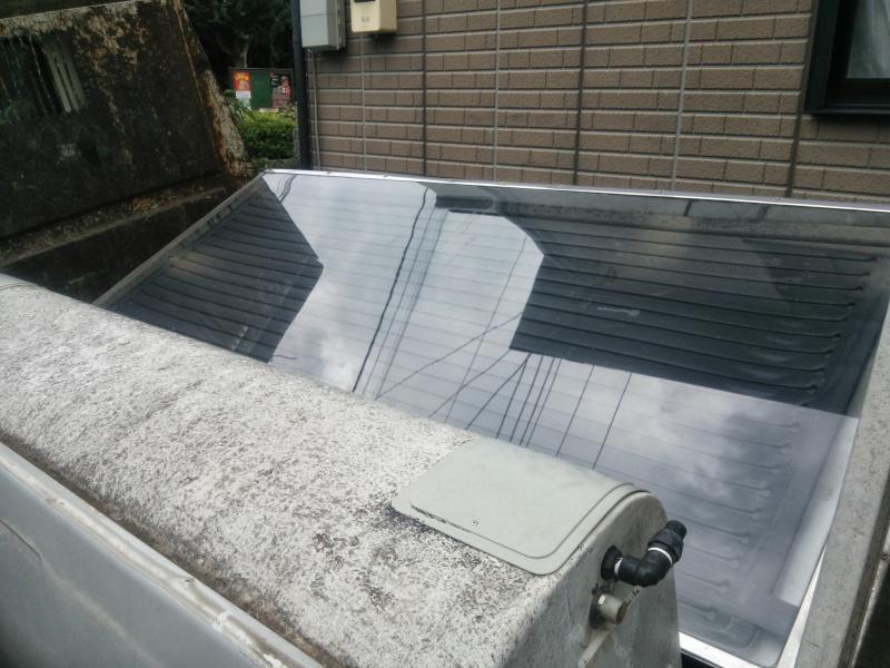 撤去した太陽熱温水器