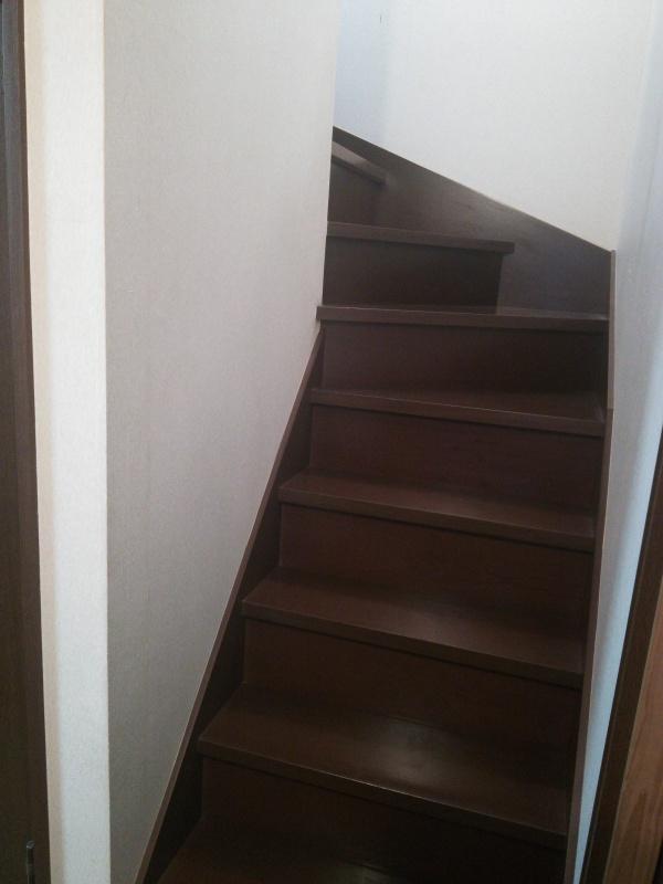 階段手すり取付前1