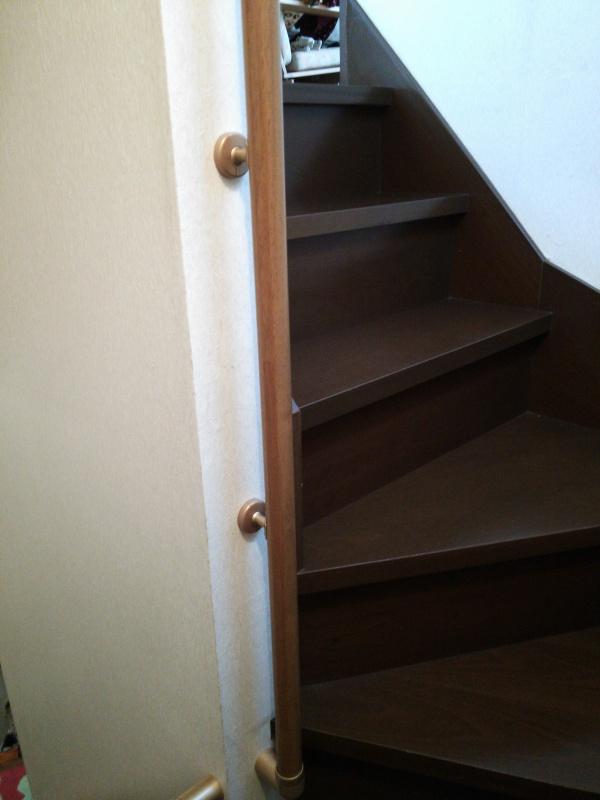 階段手すり取付後6
