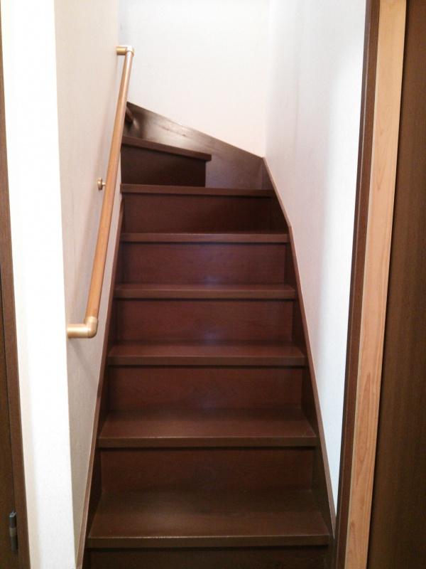 階段手すり取付後8