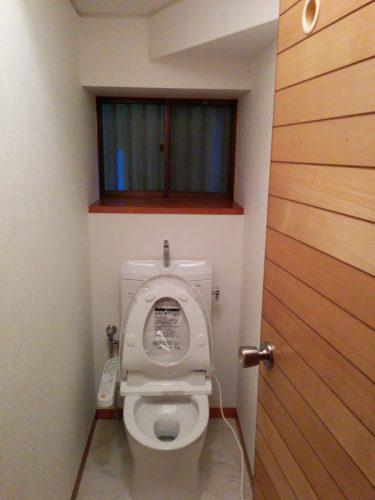 1階トイレ設置後