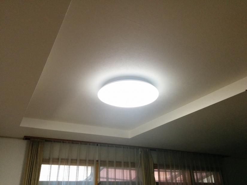 LEDシーリングライトへ交換後1