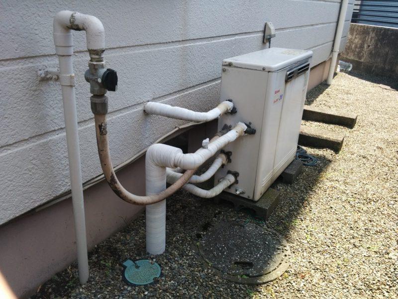据置型ガス給湯器交換前2