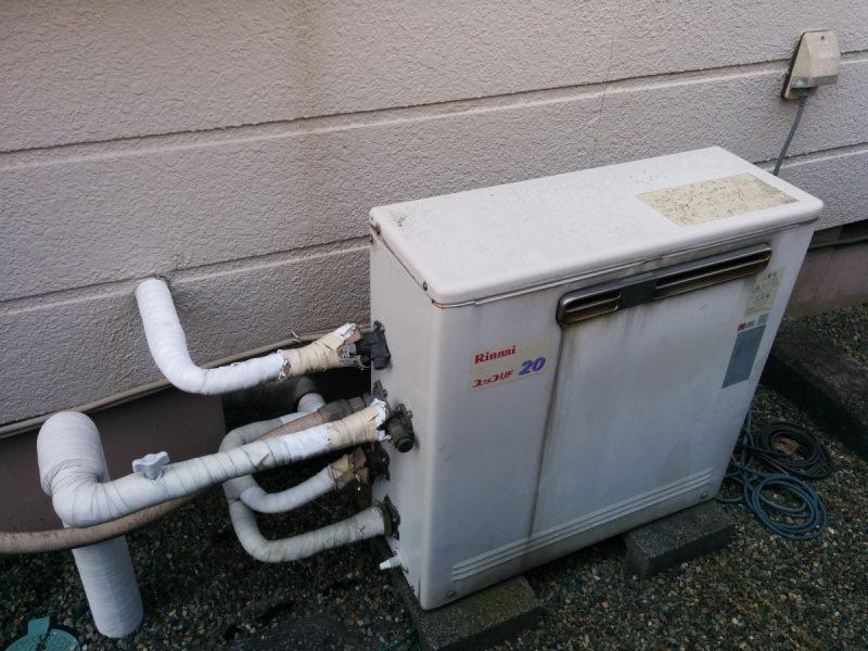 据置型ガス給湯器交換前3