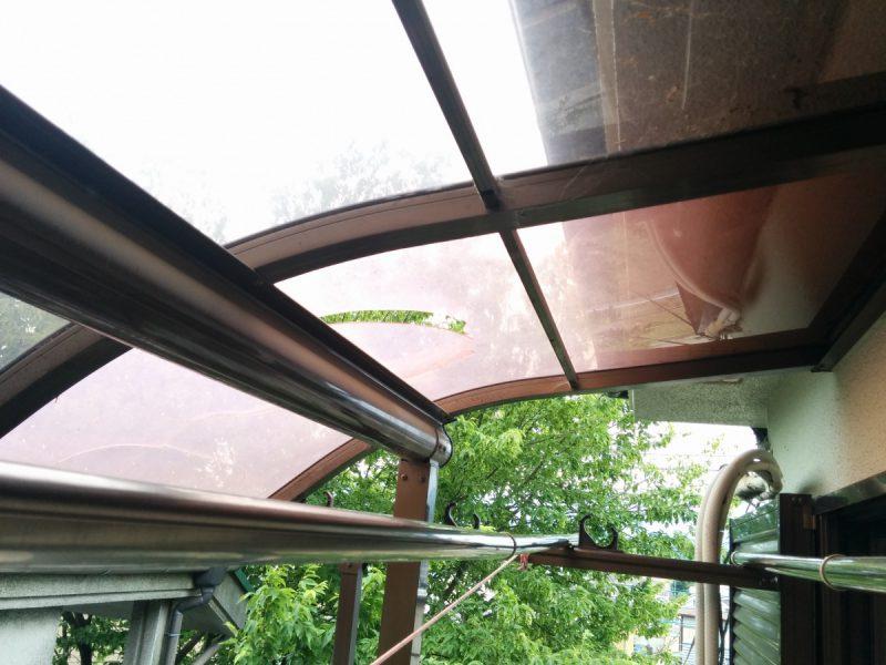 交換前テラス屋根