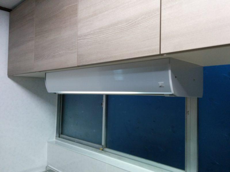 ラクエラスライド収納プラン設置後-アイエリアボックス水切りタイプ照明付き