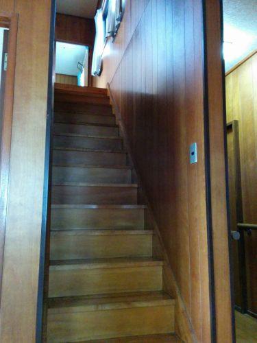 階段手摺設置前