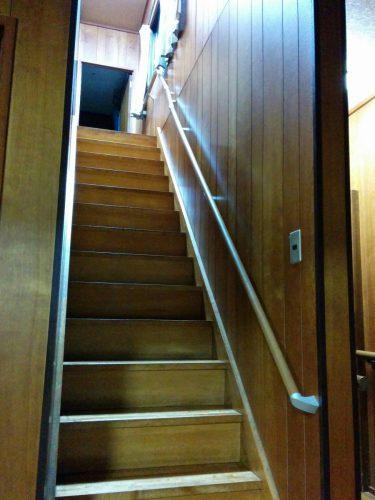 階段手摺設置後