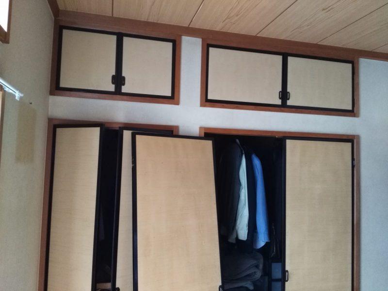 和室壁クロス貼替前2