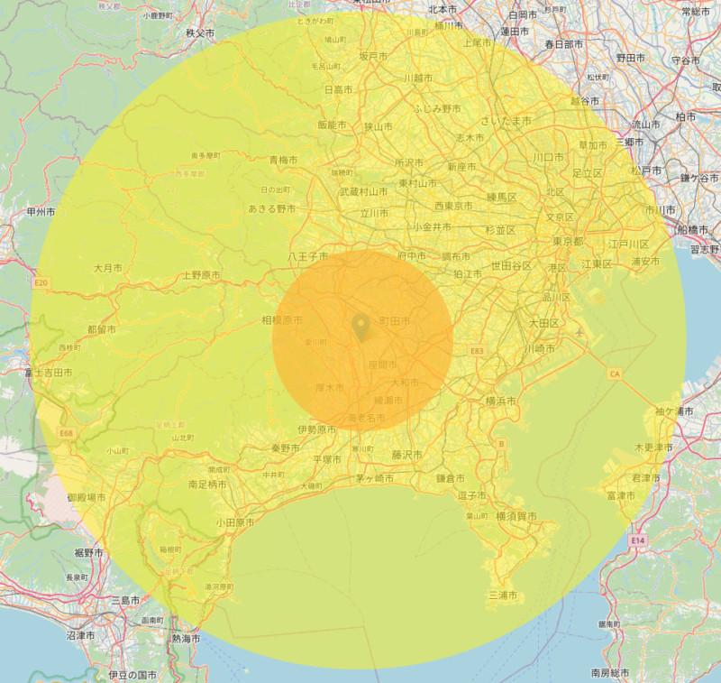 小嶋ライフの営業範囲マップ