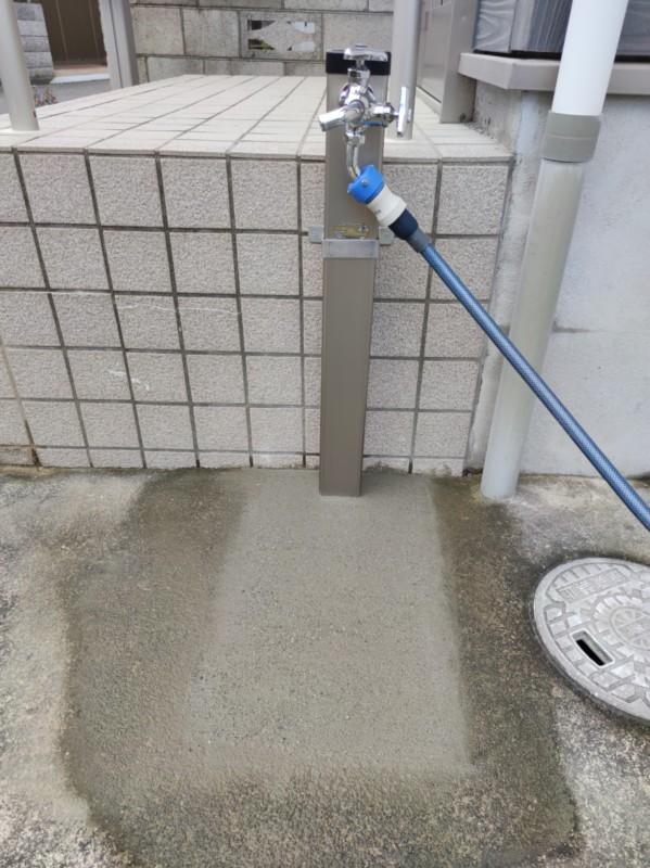 立水栓へ交換後