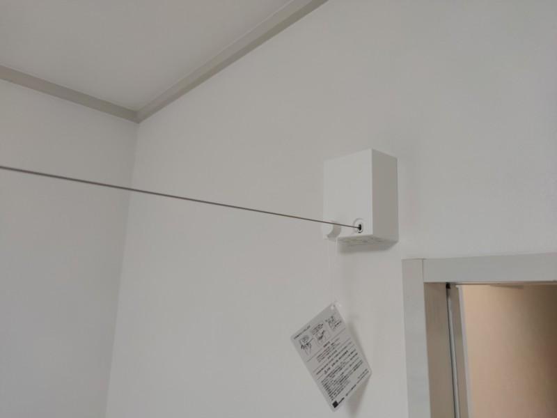 室内物干しワイヤーPid4M新設