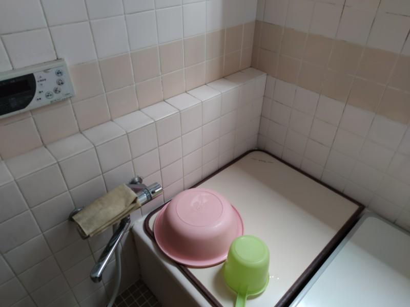 既存浴室仮設前