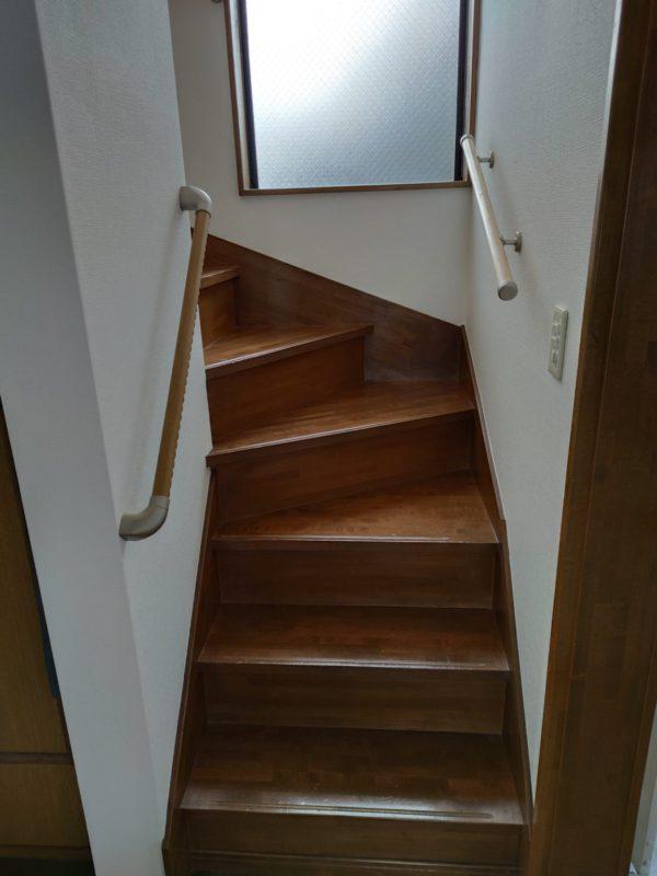 階段手すり設置後