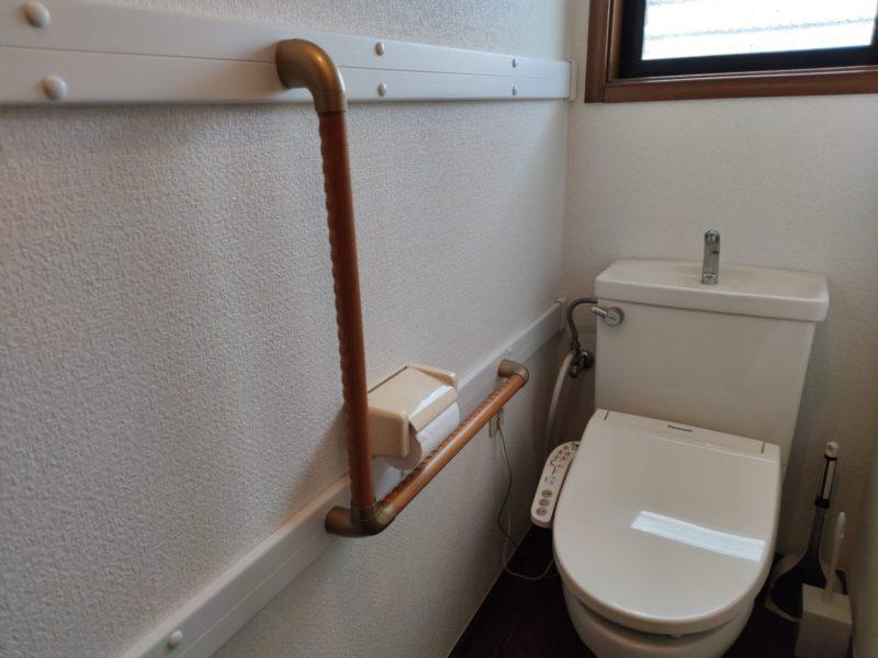 上鶴間グループホーム1階トイレ手すり設置後