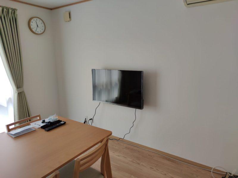 液晶テレビ壁掛後