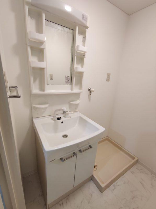 YF104号洗面化粧台&洗濯機パン